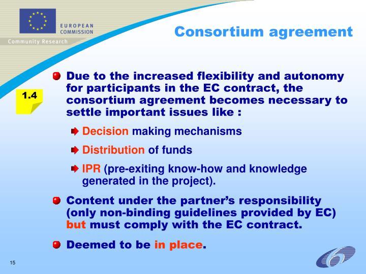 Consortium agreement