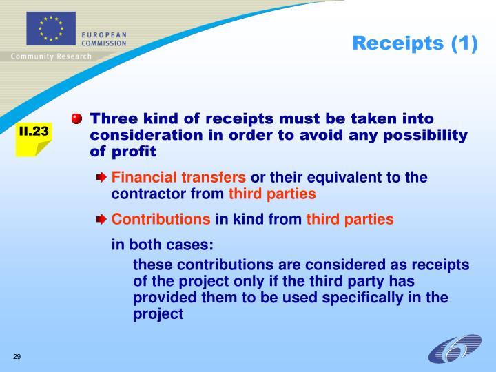 Receipts (1)
