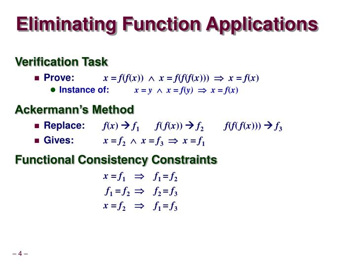 Eliminating Function Applications