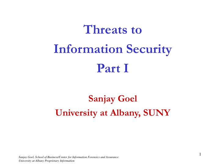 threats to information security In our introduction to it security article, we covered a number of ways to help protect your data, systems, and customers' information against security threatsbut new types of threats are emerging that can compromise your business here's a quick guide to some trends in it security and a few ideas to safeguard yourself against them.