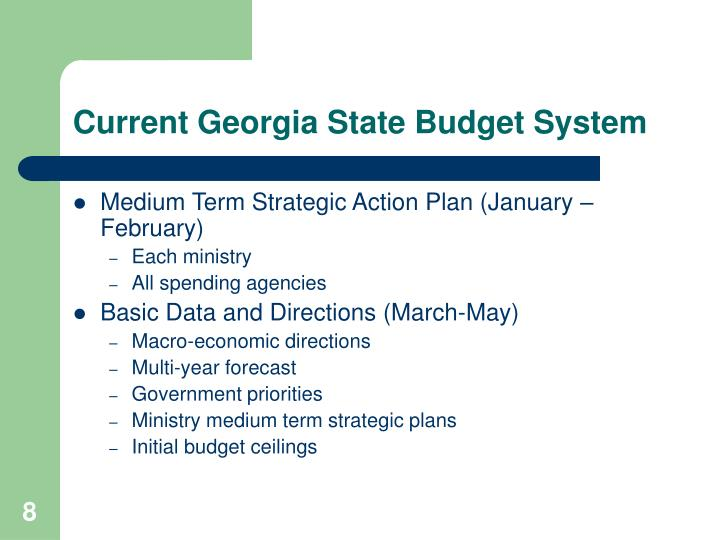 Current Georgia State Budget System