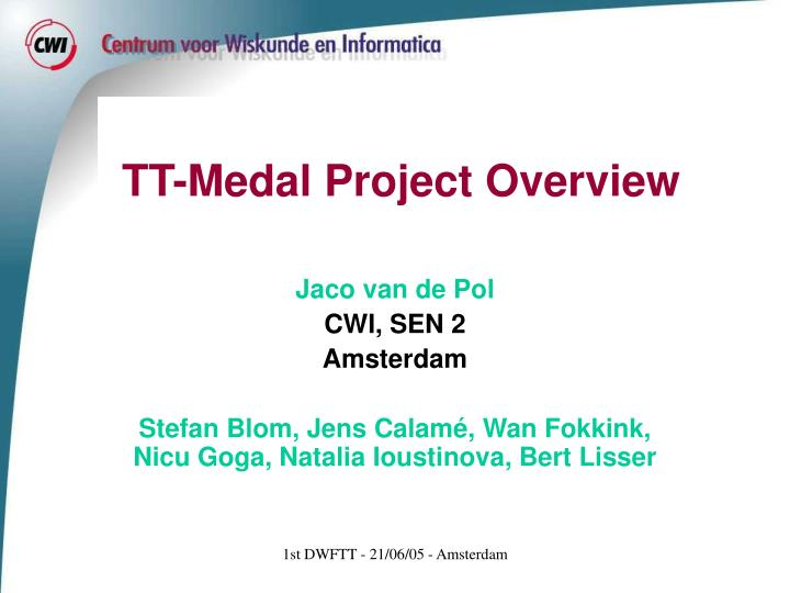 tt medal project overview