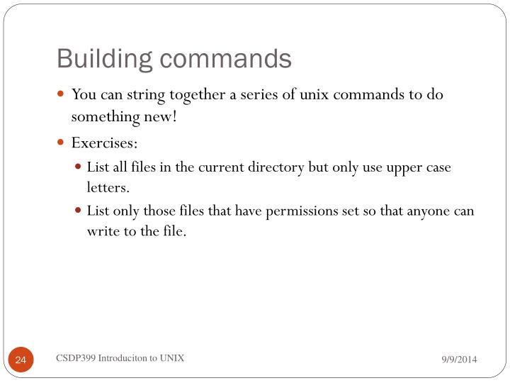 Building commands