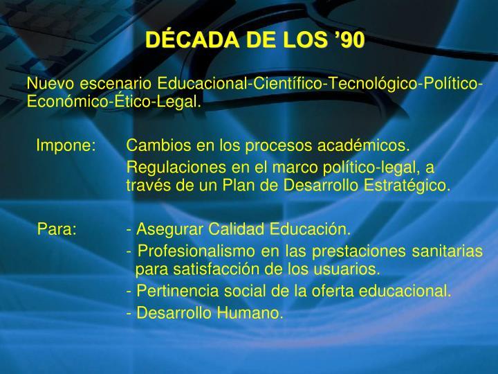 DÉCADA DE LOS '90