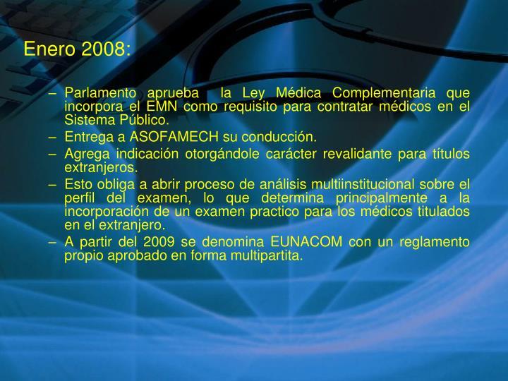 Enero 2008:
