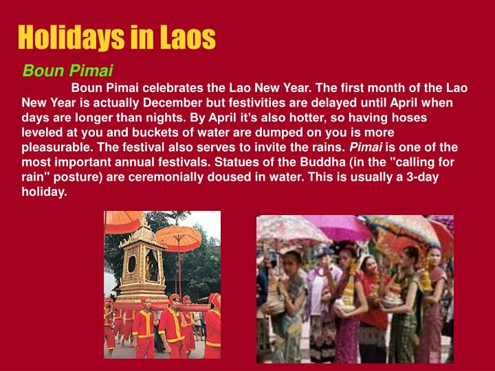 Holidays in Laos