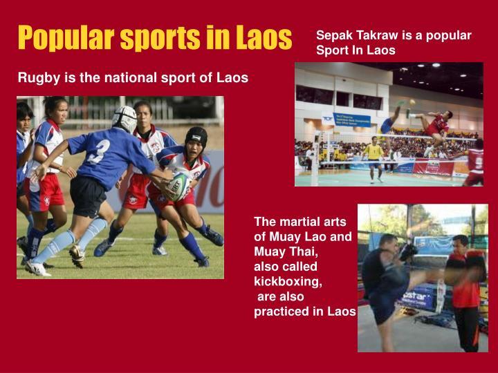 Popular sports in Laos