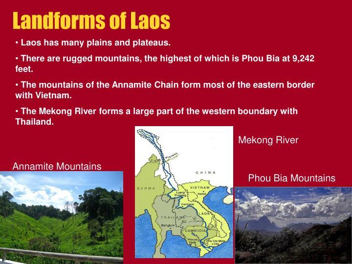 Landforms of Laos