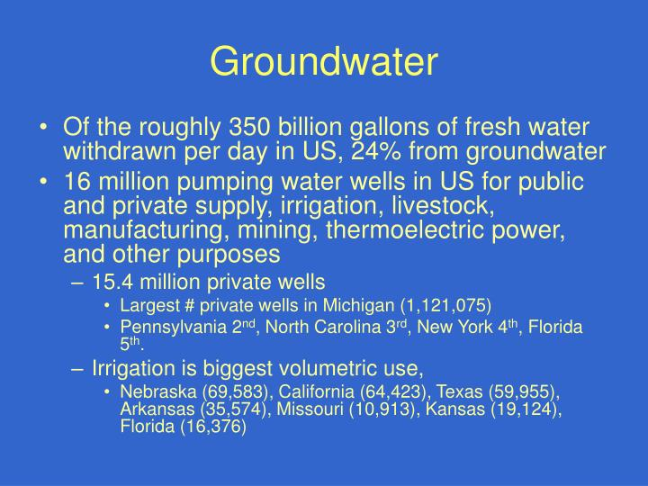 groundwater n.