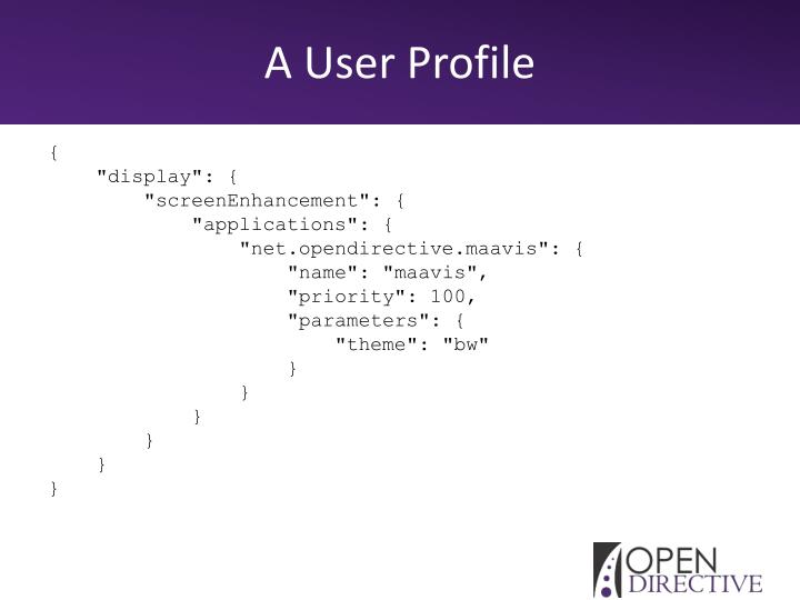 A User Profile