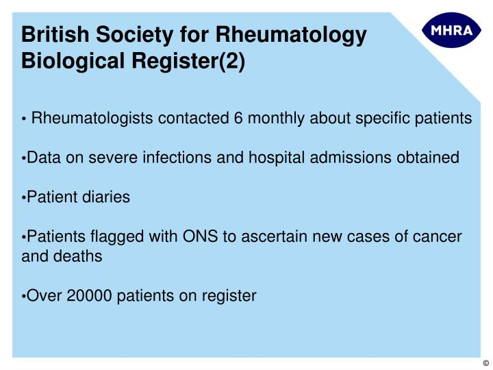 British Society for Rheumatology Biological Register(2)