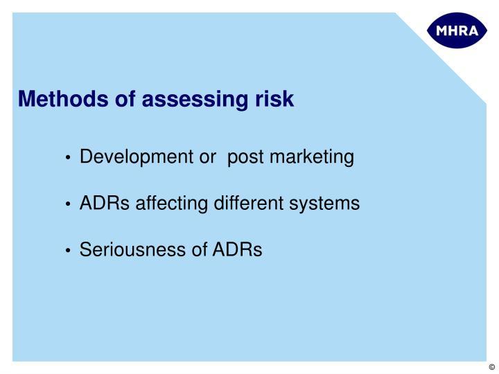 Methods of assessing risk