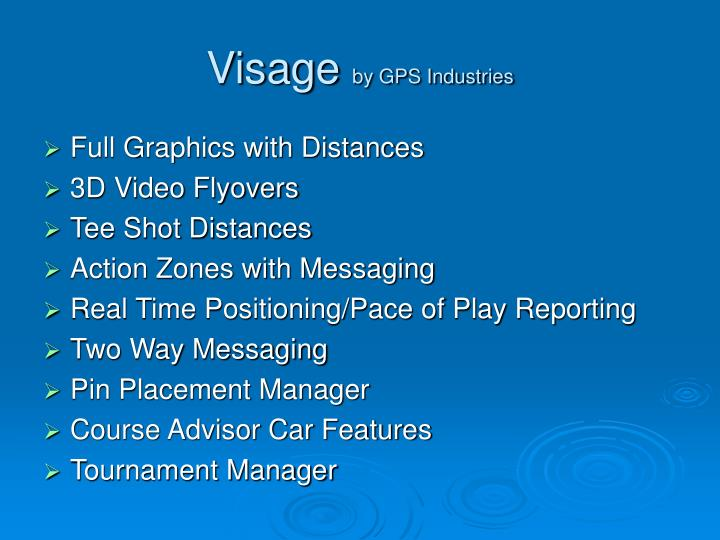 Visage by gps industries