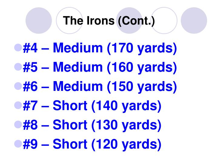 The Irons (Cont.)