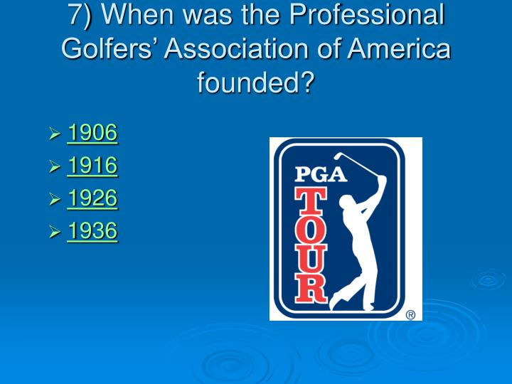 the professional golfers association of america essay