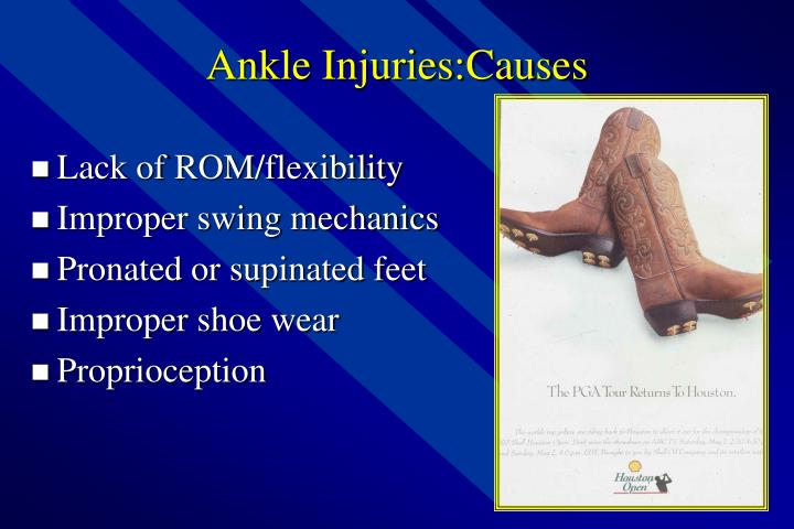 Ankle Injuries:Causes