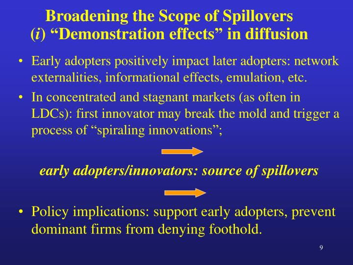 Broadening the Scope of Spillovers