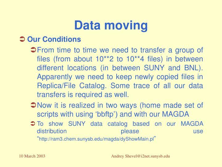 Data moving