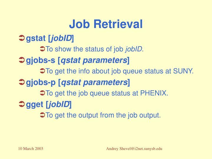 Job Retrieval