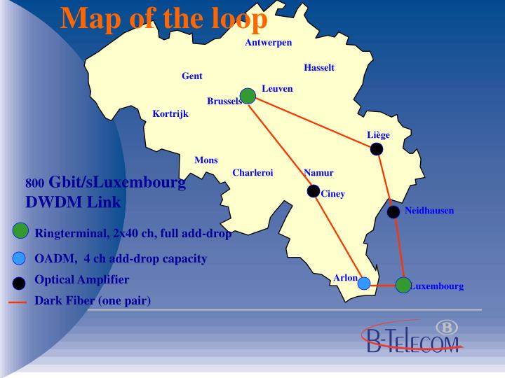 Map of the loop