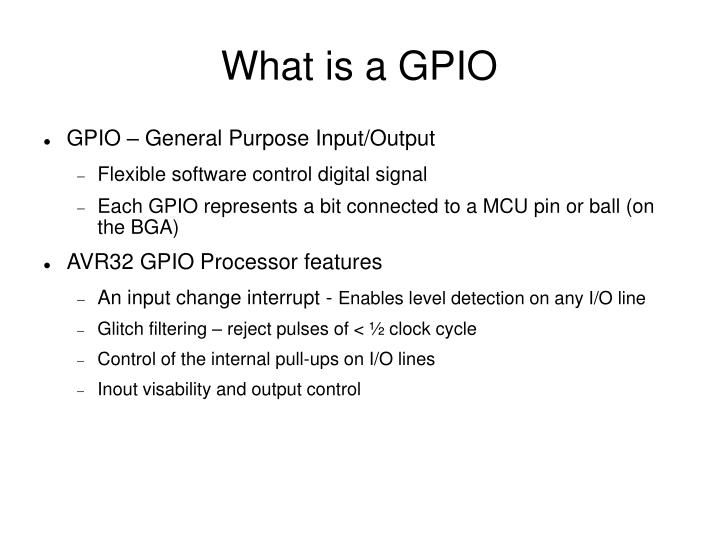 What is a gpio