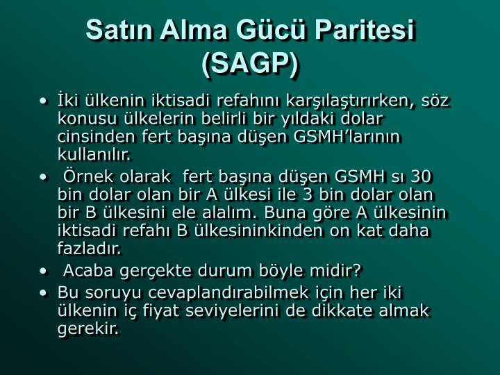 Satın Alma Gücü Paritesi (SAGP)