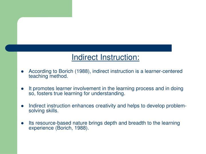 Indirect Instruction: