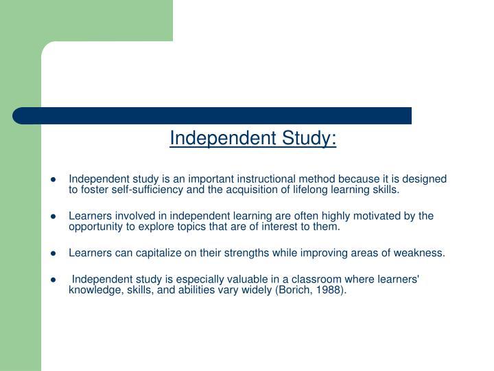 Independent Study: