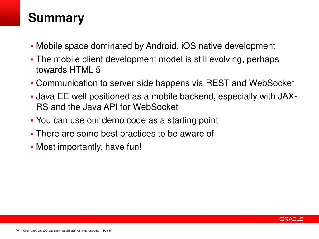 PPT - Android and iOS Development with JAX-RS, WebSocket and Java EE
