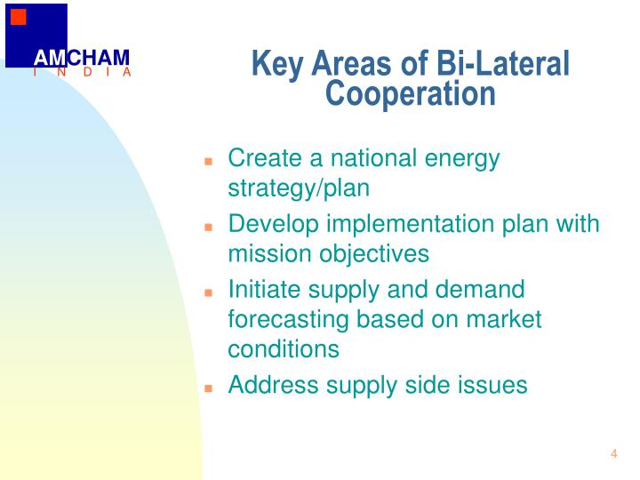Key areas of bi lateral cooperation