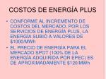 costos de energ a plus