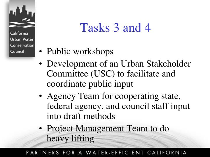 Tasks 3 and 4