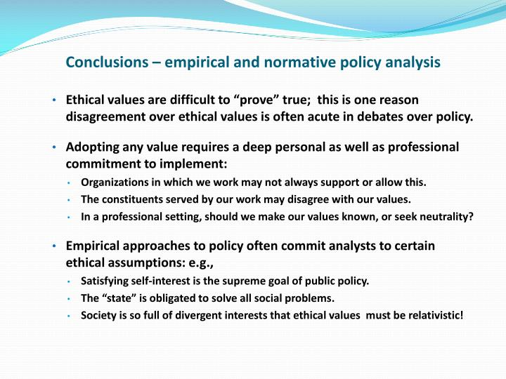 conclusion on values and ethics