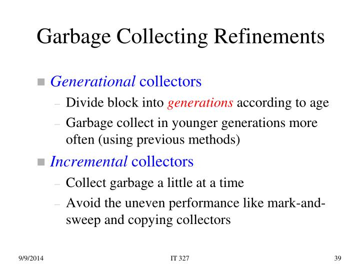 Garbage Collecting Refinements