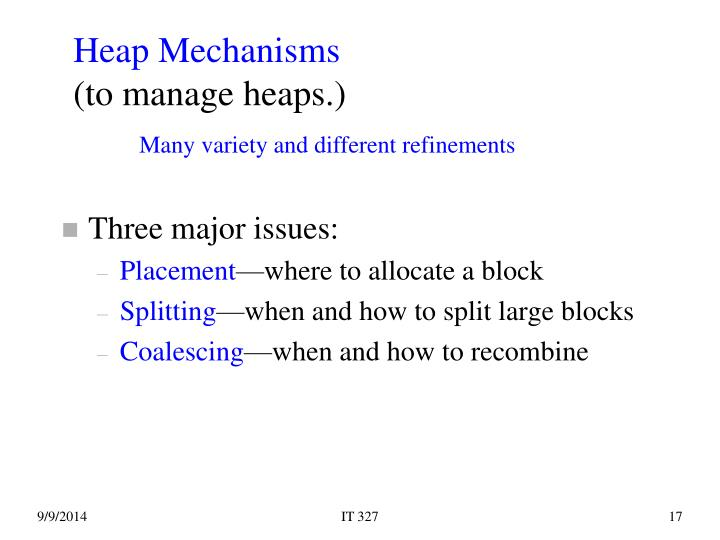 Heap Mechanisms