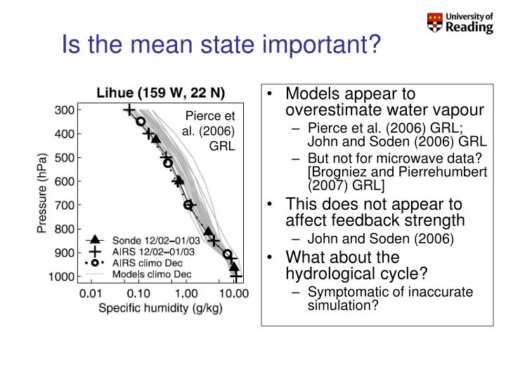 Is the mean state important?