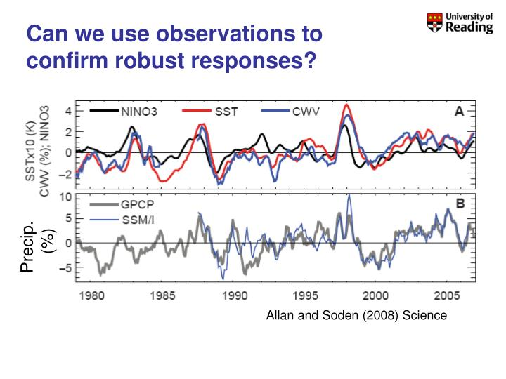 Can we use observations to confirm robust responses?