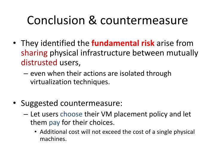 Conclusion & countermeasure