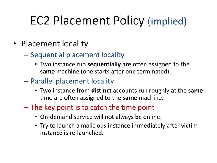 EC2 Placement Policy