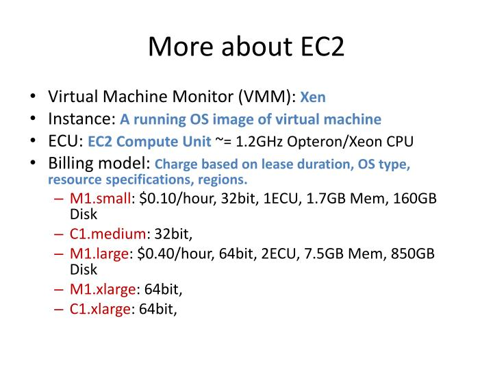 More about EC2