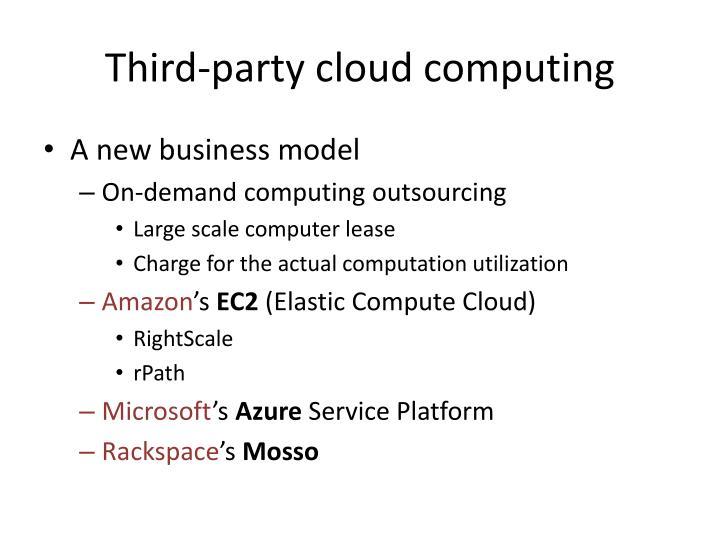 Third-party cloud computing