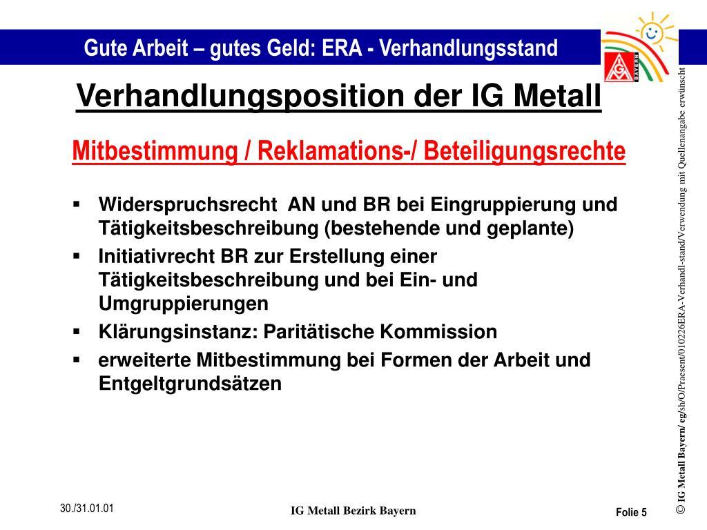 entgeltgruppe ig metall bayern
