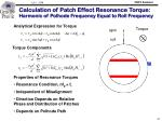 calculation of patch effect resonance torque harmonic of polhode frequency equal to roll frequency