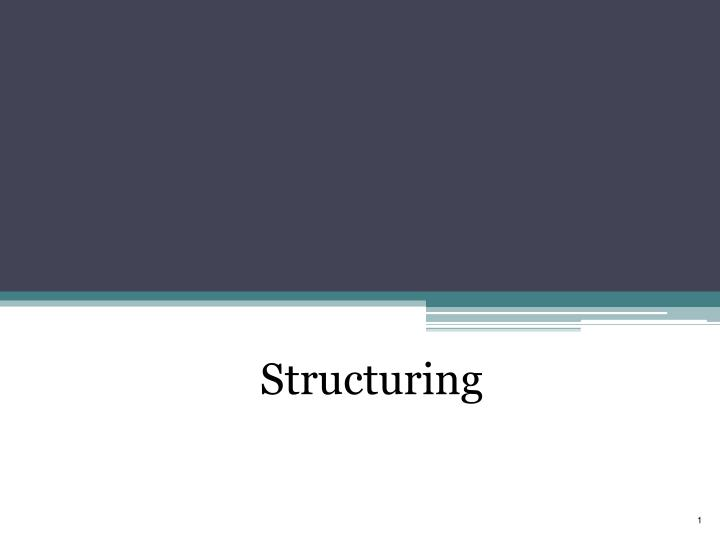 structuring n.