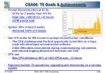 csa06 t0 goals achievements