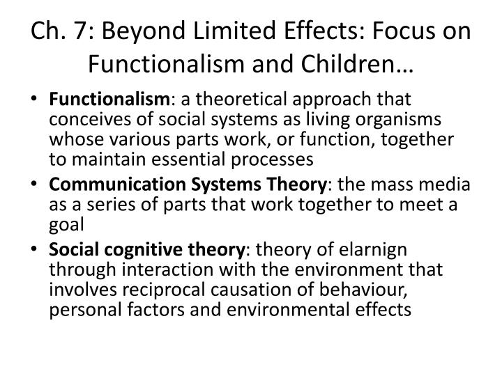 functionalist theory of mass media