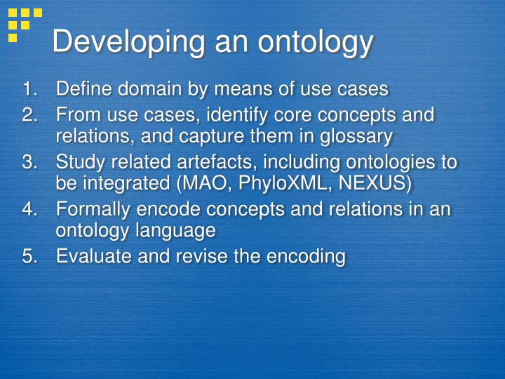 Developing an ontology
