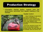 production strategy