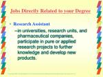 jobs directly related to your degree2