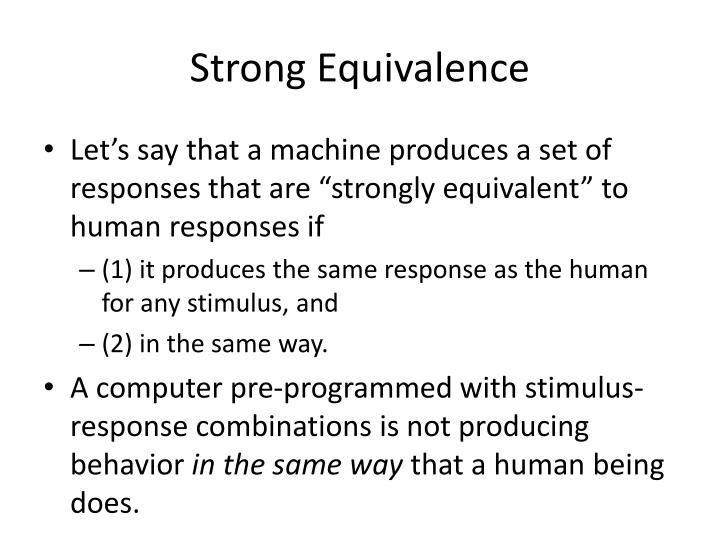 Strong Equivalence